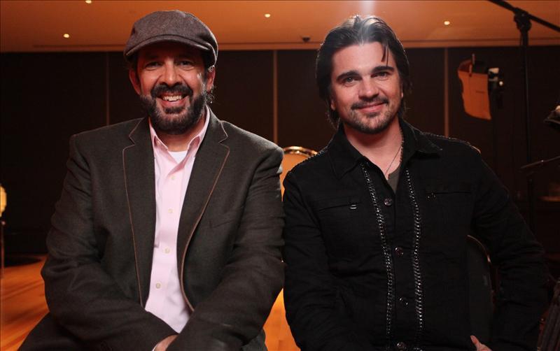 Los Grammy Latino, ante su edición más abierta En la imagen, los cantantes Juan Luis Guerra (i), dominicano, y Juanes (d), colombiano, dos de los favoritos para ser galardonados en los Grammy Latino. EFE/Archivo.