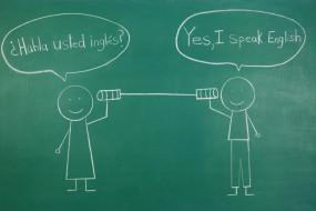 Tin Can Phone Spanish and English Conversation