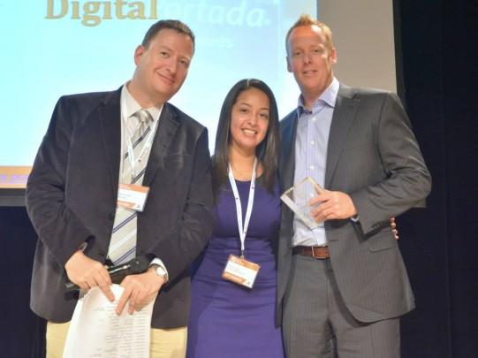 Trevor Hansen, CEO at EPMG, receiving the Award.