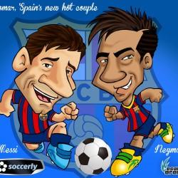 Cesar Orona SC Messi and Neymar.soccerly