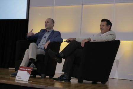ZoominTV's Jan Riemens and Kaltura's Juan Carlos Santamaria