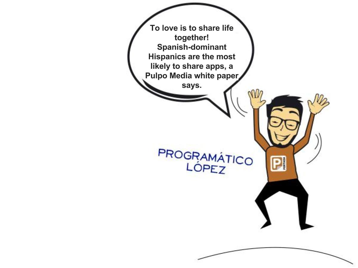 Spanish-Dominant Hispanics Share More Apps