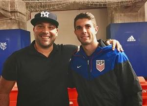 bfe4a0530 Luis Miguel Echegaray (L) and Borussia Dortmund / United States national  team star Christian Pulisic (R).