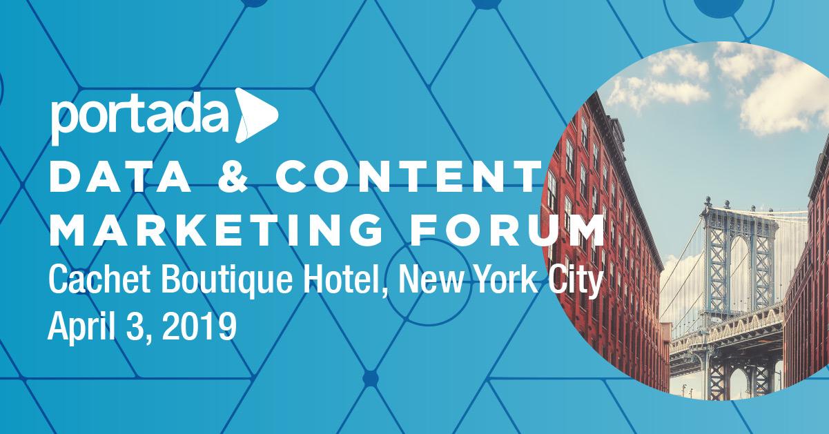 Data & Content Marketing Forum, April 3